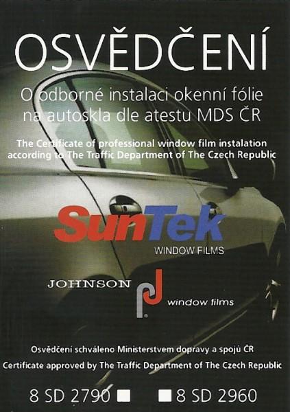 Osvědčení o odborném tónování autoskel dle atestu MDS ČR